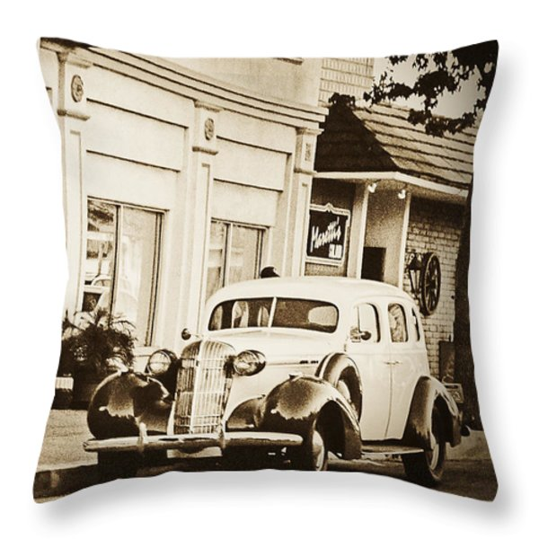 Town Center Throw Pillow by Caitlyn  Grasso