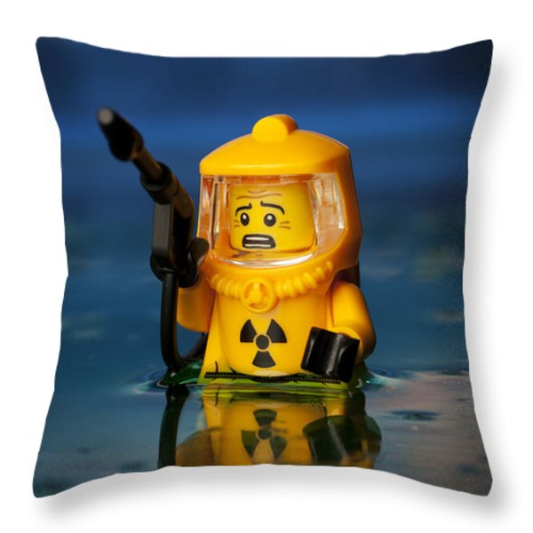 Toxic Throw Pillow by Samuel Whitton