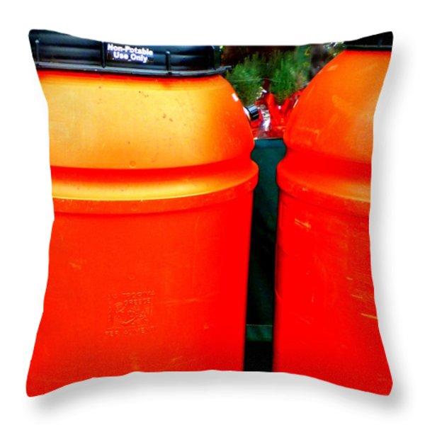 Toxic Waste Throw Pillow by Renee Trenholm
