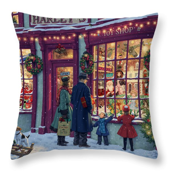Toy Shop Variant 2 Throw Pillow by Steve Read