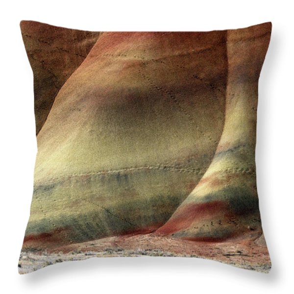Traces Of Life Throw Pillow by Mike  Dawson
