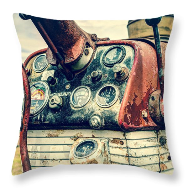 Tractor Dash - Farmall 560 Diesel Throw Pillow by Gary Heller