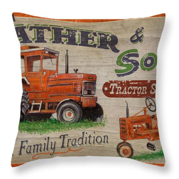 Tractor Supplies Throw Pillow by JQ Licensing
