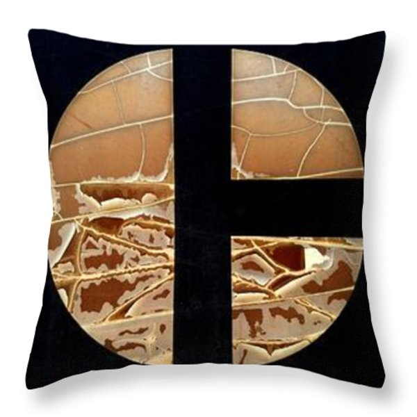 TRACTOR TRIPTYCH Throw Pillow by Marlene Burns