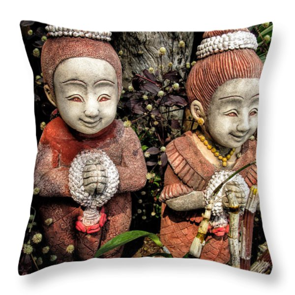 Traditional Thai Welcome Throw Pillow by Adrian Evans