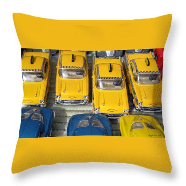 Traffic Jam Throw Pillow by Leena Pekkalainen