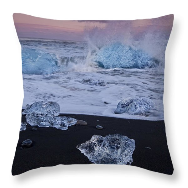 Trail Of Diamonds Throw Pillow by Evelina Kremsdorf