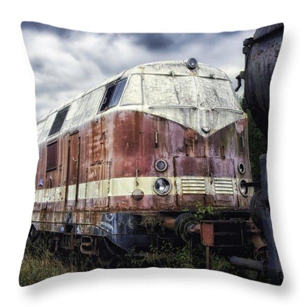 Train Memories Throw Pillow by Mountain Dreams