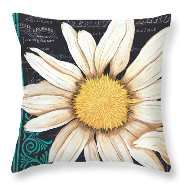 Tranquil Daisy 2 Throw Pillow by Debbie DeWitt