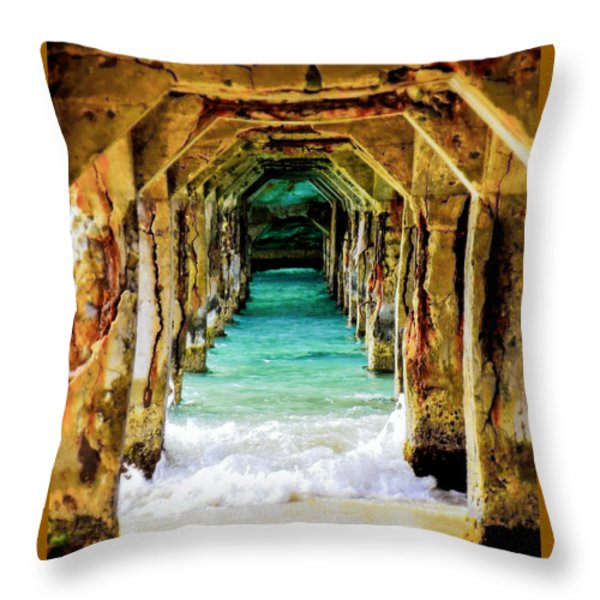 TRANQUILITY BELOW Throw Pillow by KAREN WILES