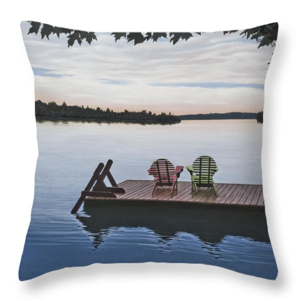 Tranquility Throw Pillow by Kenneth M  Kirsch