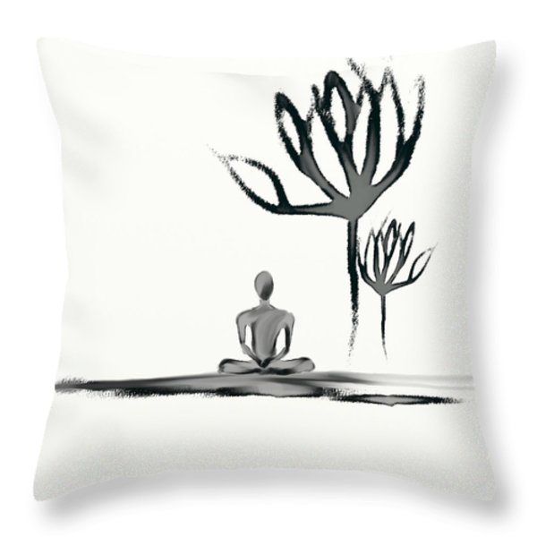 Tranquility Throw Pillow by Len YewHeng