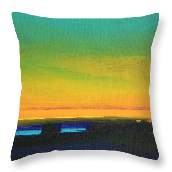 Tranquility Throw Pillow by Mike Savlen