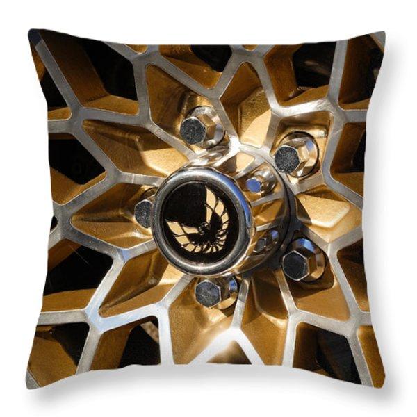 Trans-Am Snowflake Wheel Throw Pillow by Gordon Dean II