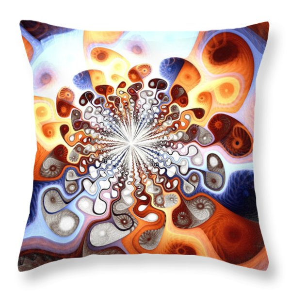 Transformation Throw Pillow by Anastasiya Malakhova