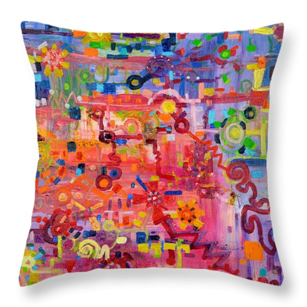 Transition To Chaos Throw Pillow by Regina Valluzzi