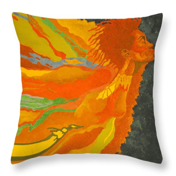 Transitions Throw Pillow by William Roby