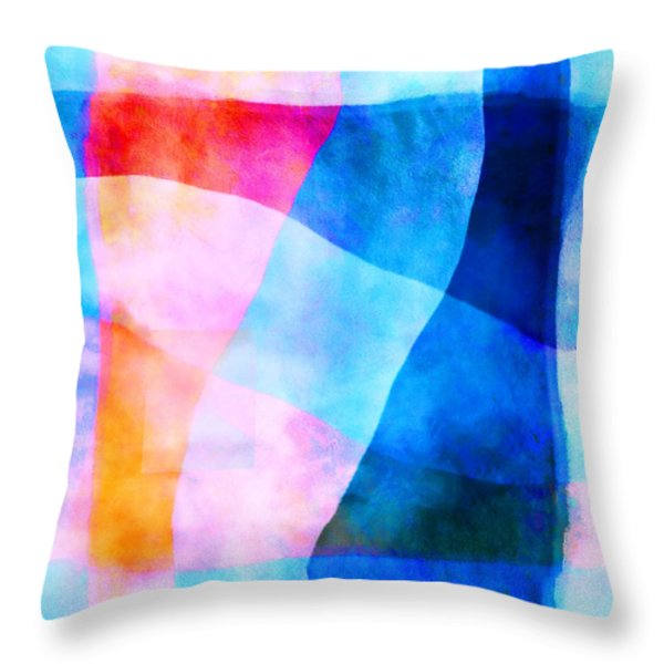 Translucence Number 1 Throw Pillow by Carol Leigh