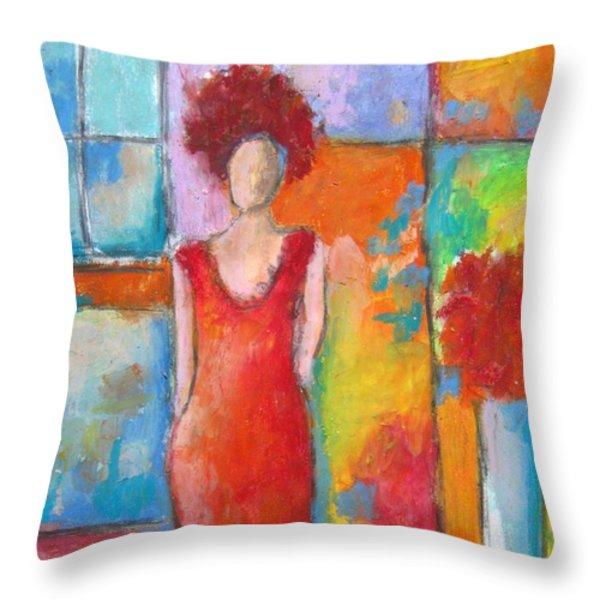 Transpose Throw Pillow by Venus