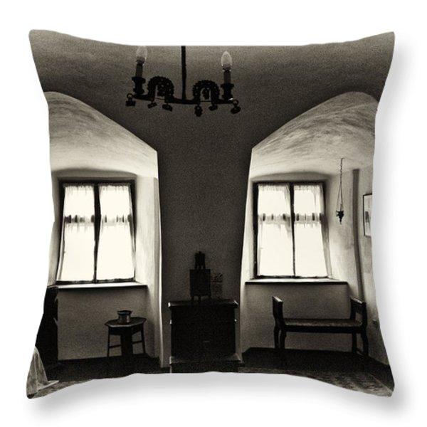 Transylvania Dracula's Castle Interior168 Throw Pillow by Dorin Stef