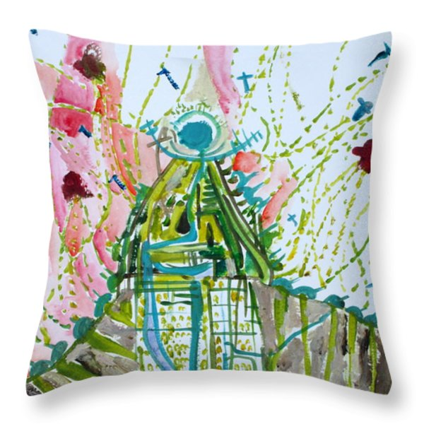 TRAUMA Throw Pillow by Fabrizio Cassetta