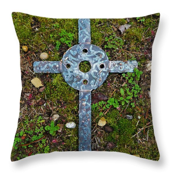 Traveling Light Throw Pillow by Deborah  Montana