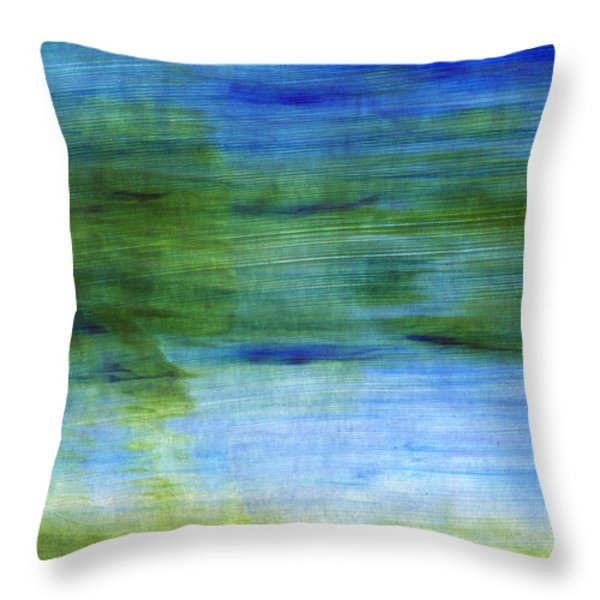 Traveling West Throw Pillow by Linda Woods
