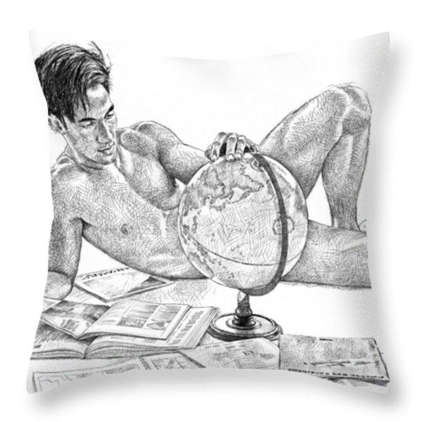 Traveller Throw Pillow by Douglas Simonson