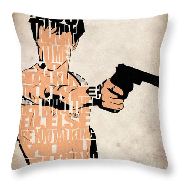 Travis Bickle - Robert De Niro Throw Pillow by Ayse Deniz
