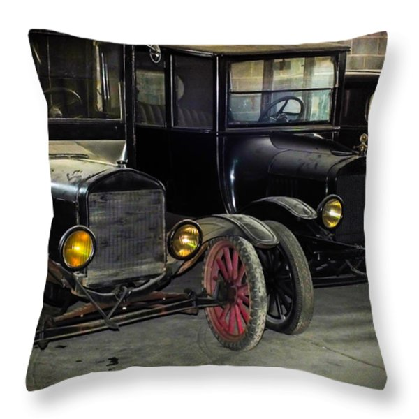 TREADS of TIME Throw Pillow by KAREN WILES