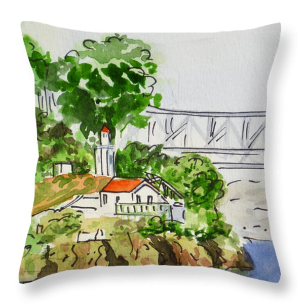 Treasure Island - California Sketchbook Project  Throw Pillow by Irina Sztukowski