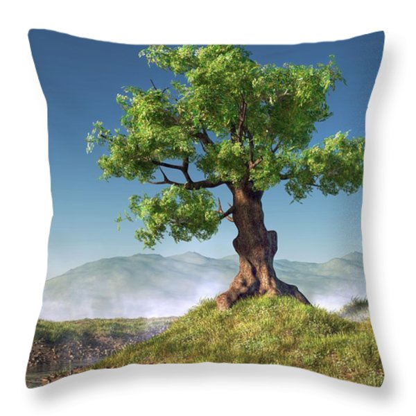 Tree Throw Pillow by Daniel Eskridge