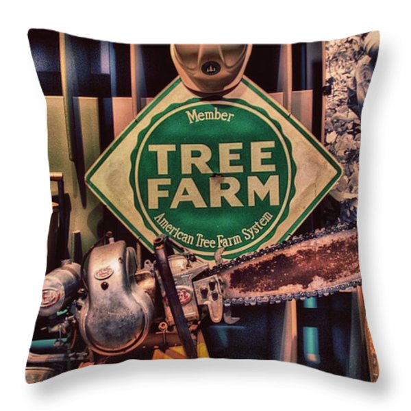 Tree Farm Throw Pillow by Todd and candice Dailey