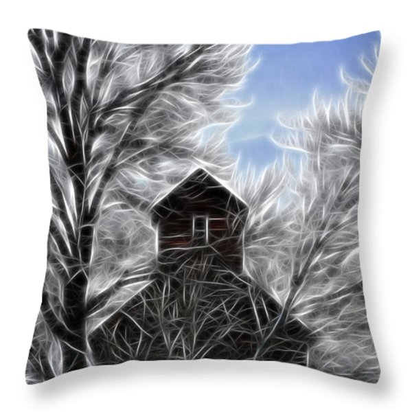 Tree House Throw Pillow by Steve McKinzie
