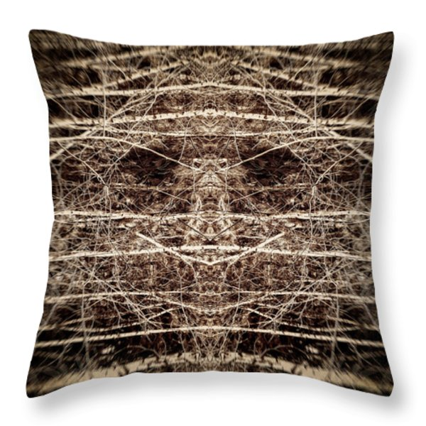 Tree Mask Throw Pillow by Wim Lanclus