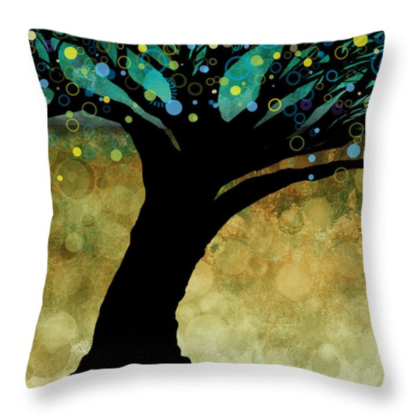 Tree Of Life Two  Throw Pillow by Ann Powell