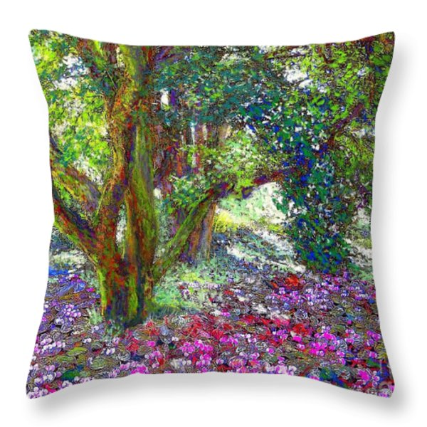 Tree Of Tranquillity Throw Pillow by Jane Small