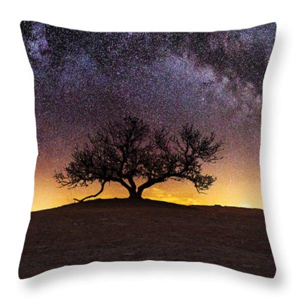 Tree of Wisdom Throw Pillow by Aaron J Groen