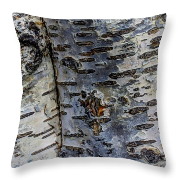 Tree People Throw Pillow by Heidi Smith