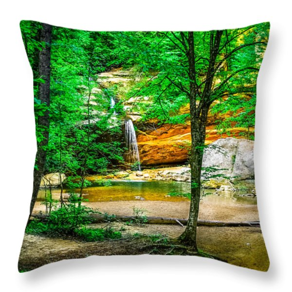 Tree roots Throw Pillow by Optical Playground By MP Ray