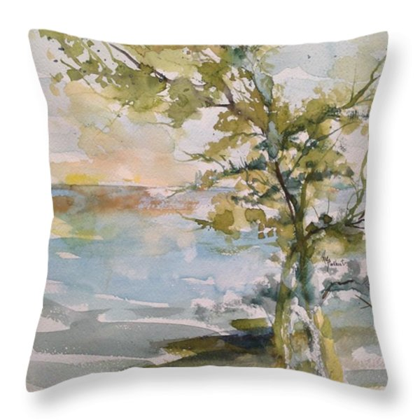 Tree Study Throw Pillow by Robin Miller-Bookhout
