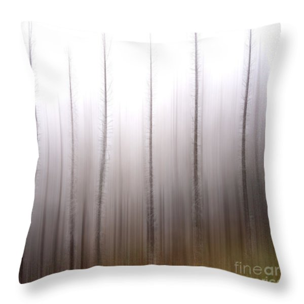 Tree trunks Throw Pillow by BERNARD JAUBERT