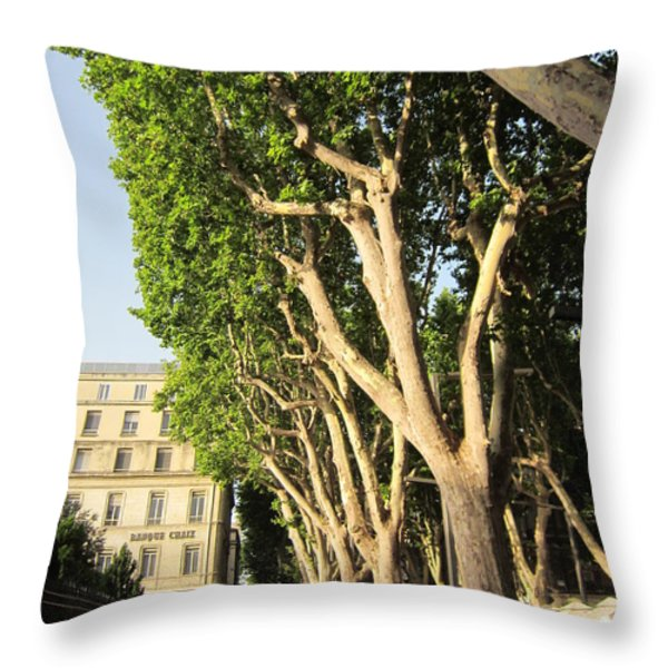 Treed Avenue Throw Pillow by Pema Hou