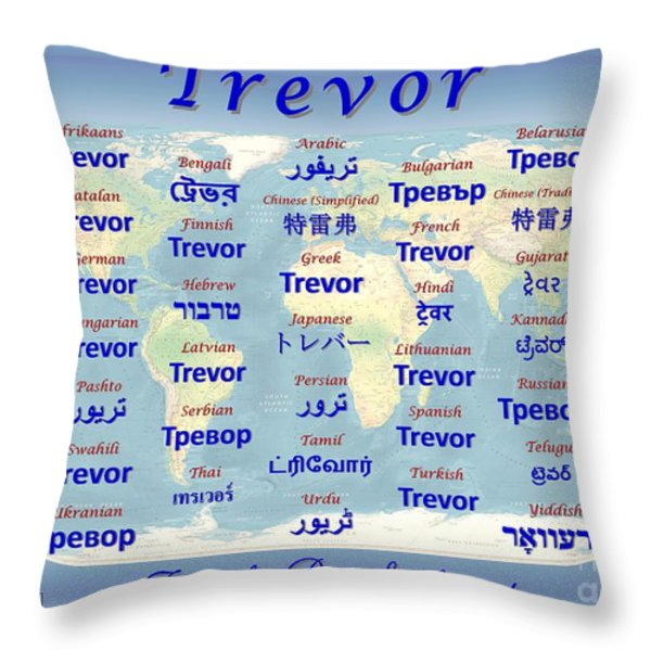 Trevor Throw Pillow by J McCombie