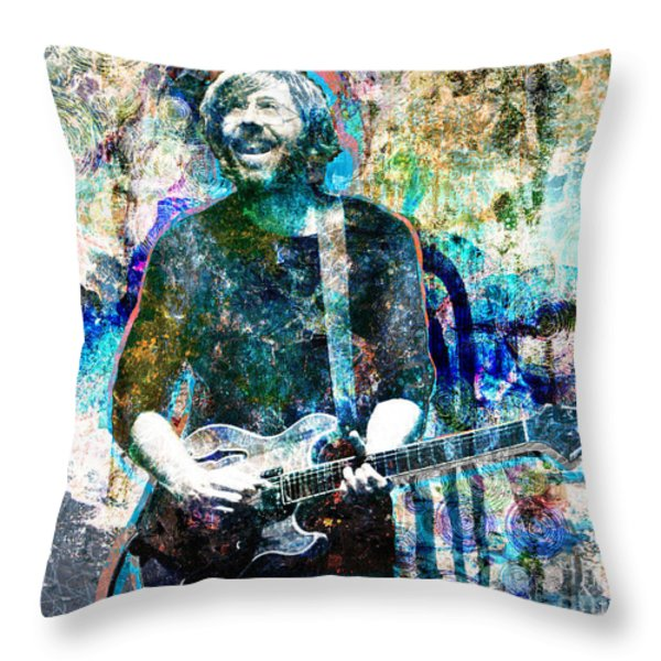 Trey Anastasio - Phish Original Painting Print Throw Pillow by Ryan RockChromatic