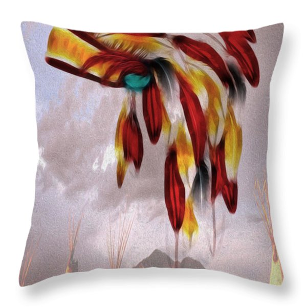 Tribal Throw Pillow by Cheryl Young