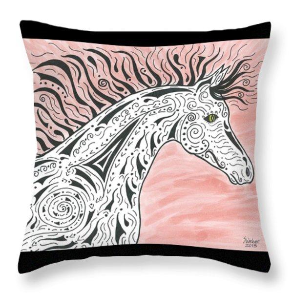 Tribal Spirit Wind Throw Pillow by Susie WEBER