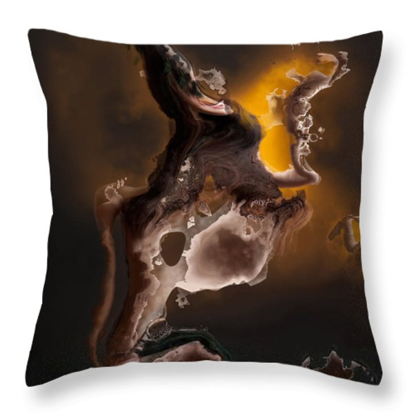 Tribal The Fire Within Throw Pillow by Liane Wright