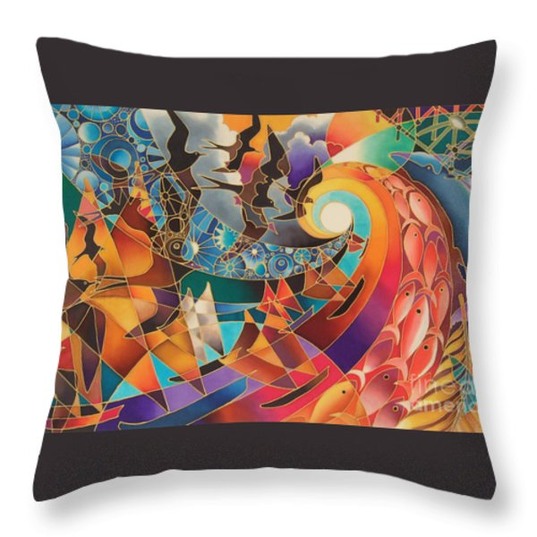 Tribute Throw Pillow by Maria Rova
