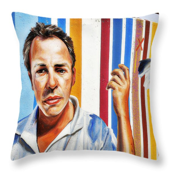Tribute To Graffiti Throw Pillow by Christine Till